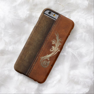 Saddle Up Tan Faux Leather Barely There iPhone 6 Case