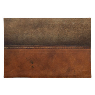 Saddle Up Tan Faux Leather Placemat