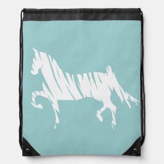 Saddlebred Horse Art Drawstring Bag