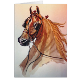 Saddlebred Horse Christmas Card