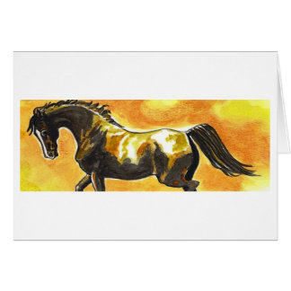 Saddlebred Morgan Horse Original Art Card