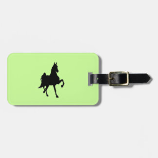 Saddlebred Silhouette Luggage Tag