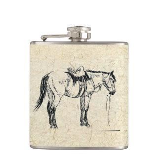 Saddled Horse Flask