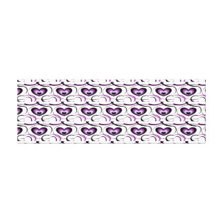Sades of Purple Heart Pattern Canvas Print