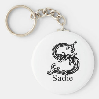 Sadie Basic Round Button Keychain