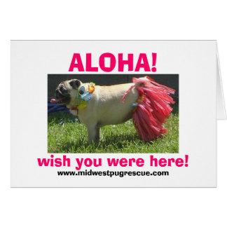 Sadie May hula girl, ALOHA!, wish you were here... Card