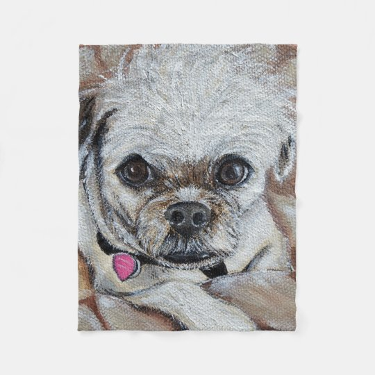 Sadie Rose - Pugapoo Fleece Blanket