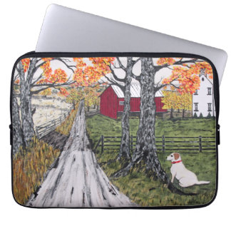 Sadie The Farm Dog Laptop Sleeve