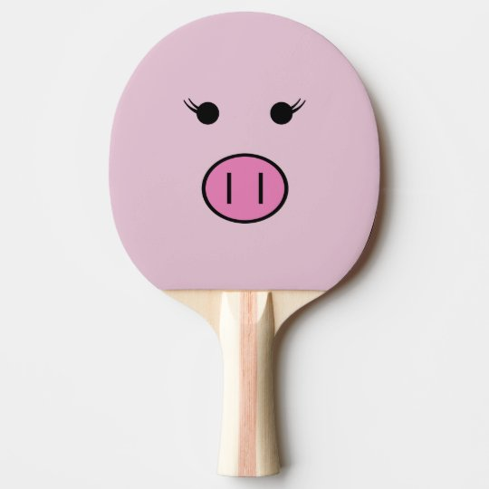 Sadie the Pink Pig | Cute Kawaii Ping Pong Paddle