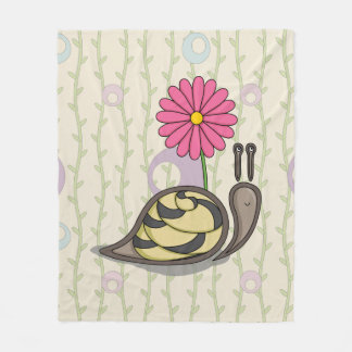 Sadie the Snail Fleece Blanket