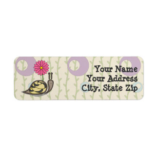 Sadie the Snail Return Address Label