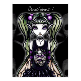 "Sadie's  ""Come Home ! "" Gothic Fairy Postcard"