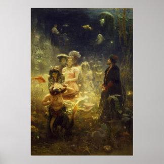 Sadko in the Underwater Kingdom Ilya Repin Mermaid Poster