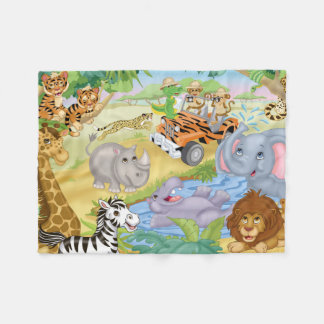 Safari Animal Flannel Blanket