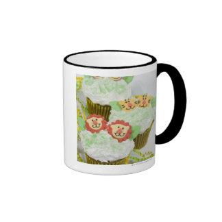 Safari animal party cupcakes. ringer coffee mug