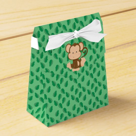 Safari Animals | Baby Monkey Party Favor Boxes