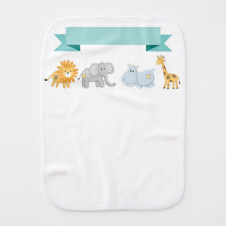 Safari Animals Banner Burp Cloth