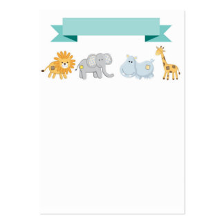 Safari Animals Banner Business Card