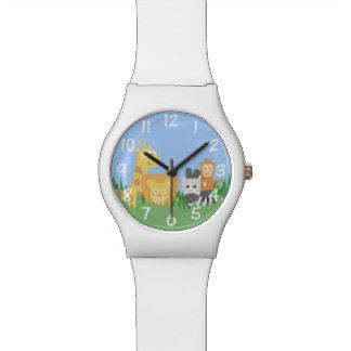 Safari Animals Theme for Children Timepiece Watch