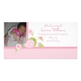 Safari Babiez Birdie Photo Birth Announcement Card