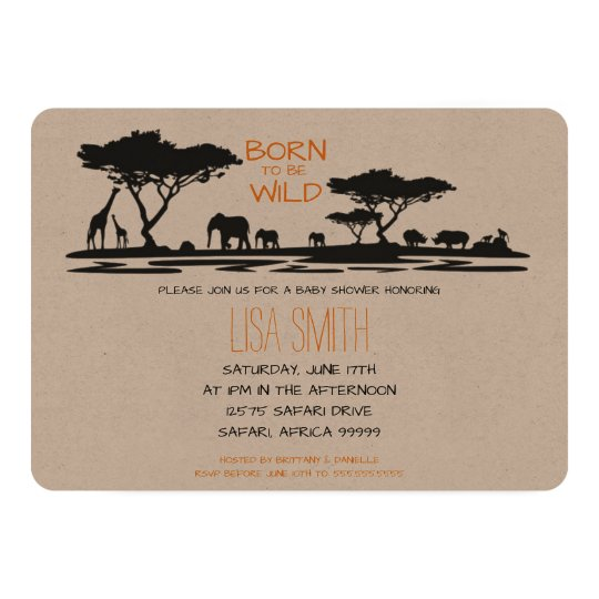 Safari Baby Shower Card