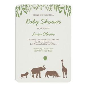 safari baby shower invitations announcements zazzle ca