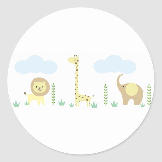 Safari Baby Shower Stickers