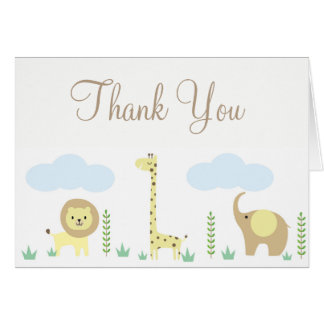Safari Baby Shower Thank You Note Cards