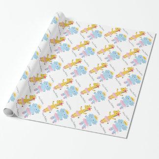 Safari Ballerina Birthday Wrapping Paper