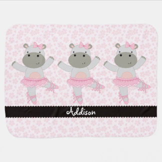 Safari Ballerina Personalized Baby Blanket