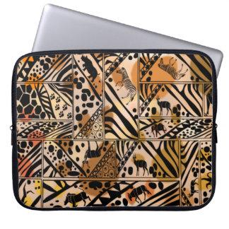 """Safari Batik Style Neoprene laptop Sleeve 15"""""""