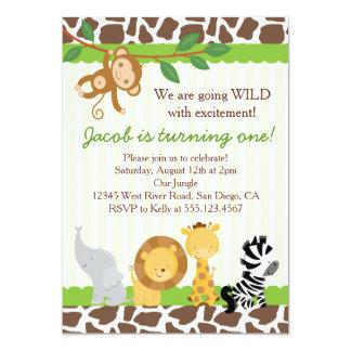 Safari 1st Birthday Invitations Announcements Zazzle Canada