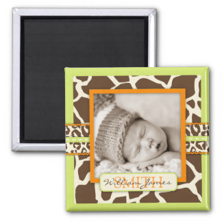 Safari Boy Green Photo Magnet