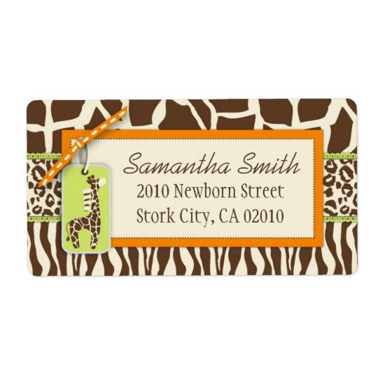 Safari Boy OR Shipping Label