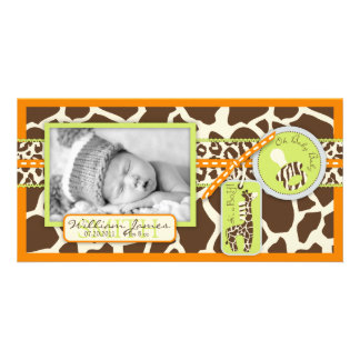 Safari Boy Orange Photo Card