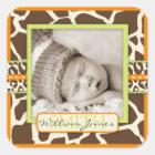 Safari Boy Orange Photo Sticker