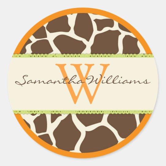 Safari Boy Orange Sticker GIR