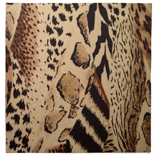 Safari Brown Cloth Napkins