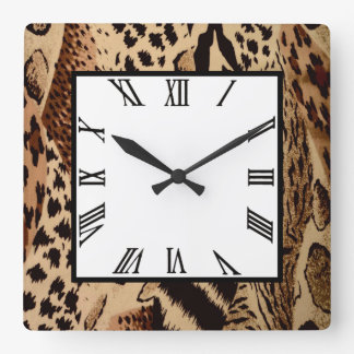 Safari Brown Wallclocks