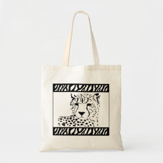 Safari Cheetah logo tote bag