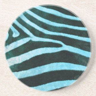 Safari Collection Turquoise Zebra Coaster