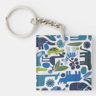 Safari Double-Sided Square Acrylic Keychain