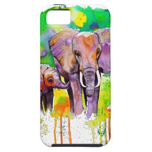 Safari Elephants Cover For iPhone 5/5S