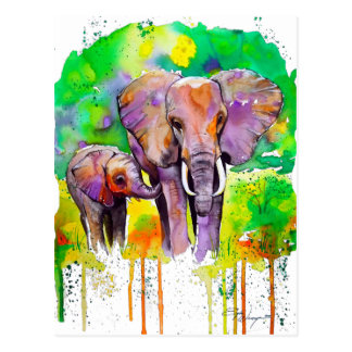 Safari Elephants Postcard