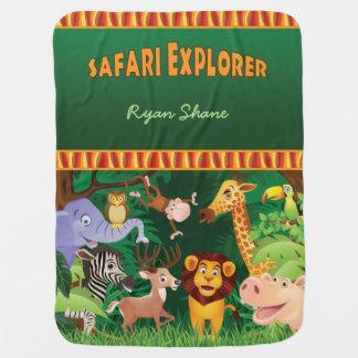 Safari Explorer Baby Blanket
