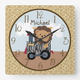 Safari Express Animal Train Nursery Clock
