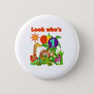 Safari First Birthday 2 Inch Round Button