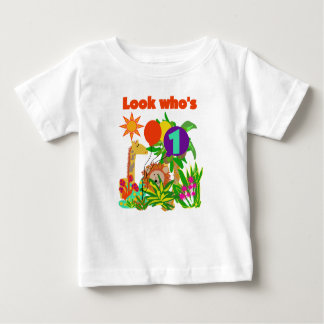 Safari First Birthday Baby T-Shirt