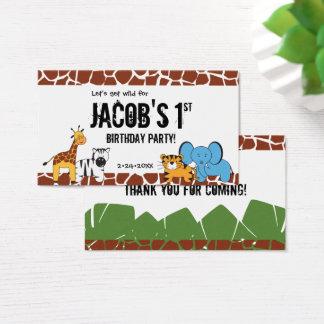 Safari first birthday, favor tags