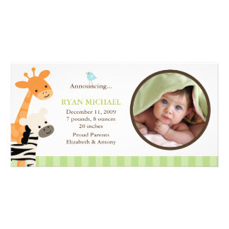 Safari Friends Birth Announcement Photo Cards